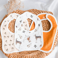 Muslin Baby Bib with Basic Patterns