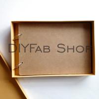 Blank Scrapbook A4 Kosong Polos 30 Lembar Hardcover MDF - Dengan Box