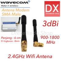 Wifi Antena 2.4GHz 3dBi 900-1800 MHz SMA Male