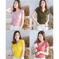 Baju Atasan Wanita Blouse Jess Lengan Pendek - Pink