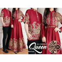 PROMO !! baju BATIK couple QUEEN bahan katun / Batik Mama Papa