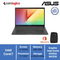 Laptop Asus K413EQ i7-1165G7 8/512GB SSD MX350 IPS FHD WIN10+OHS - SILVER