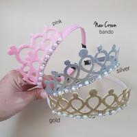 bando crown anak - silver