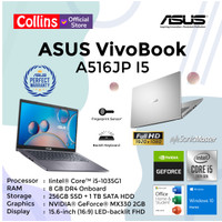 ASUS VIVOBOOK A516JP I5-1035G1 8GB 256GB+1TB MX330 15.6 FHD W10 OHS