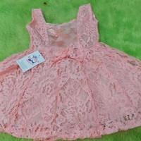 FULL BRUKAT ANAK (UK 3-4 TAHUN) BAJU BROKAT ANAK DRESS BRUKAT FURING