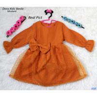 Dress Kids Vanila/Baju Anak Cewek /Midi dress Pesta Anak /Dress Santai