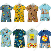 Baju Rumah / santai / setelan import anak laki 6m-10th Brand Babyhula