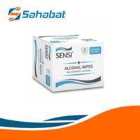 Sensi Alcohol Wipes 70% Isopropyl Alcohol Tissue Basah Alcohol