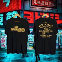 KAOS PRIA RX KING FIGHTING SPIRIT BLACK