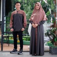 Baju pasangan keluarga muslim couple casual pesta murah terlaris