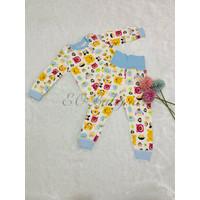 Setelan Baju Celana Tidur Piyama Anak Bayi Motif Kartun EOBaby F01
