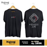 Xigzag Korean T-Shirt - Gothic Color, Unisex, Premium Black
