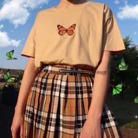 Kaos Baju Butterfly aesthetic tumblr tee 90s oversize unisex murah