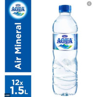 Aqua 1500ml isi 12 (1 karton) Grab & Gojek