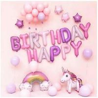 Paket Dekorasi Balon Ulang Tahun / Happy Birthday Pegasus / Unicorn 07