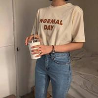 Kaos Baju Normal Day aesthetic tumblr tee 90s oversize unisex murah