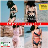 Baju Renang Wanita Perempuan Retro Thailand Bikini One-piece Import