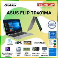LAPTOP ASUS FLIP TP401MA DUALCORE N4000 4GB 256GB SSD 14 W10 RESMI