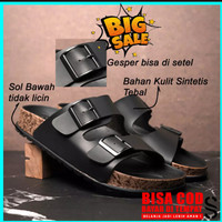 Sandal Pria Casual Sandal Slop Birken Sol Puyuh Brody Bravo