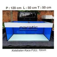 AQUARIUM KACA 120 X 50 X 50 CM FULL 10MM + SCOTLET ORACAL HITAM/PUTIH