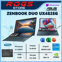 Asus Zenbook Pro Duo UX482EG KA551IPS Touch i5 1135G7 8GB 512ssd MX450