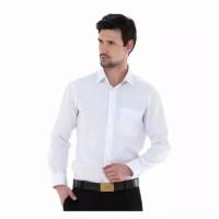 baju kemeja lengan panjang pria putih polos / kemeja kantor formal