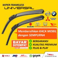 Wiper Framless Mobil 1 Set Depan Kiri & Kanan (2 Pcs)