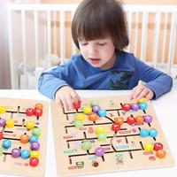 PZK01 Mainan Puzzle Kayu ABC 123 edukasi montessori belajar anak - Alfabet