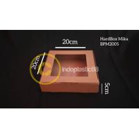 Hardbox Mika / Kotak kue / packaging / Kotak Kado / Dus karton Polos