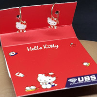 Anting emas kuning 700 Hello Kitty UBS 16K 1badan merah
