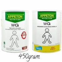 appeton WG vanilla coklat 450g 450gr 450gram 450 g gr gram weight gain