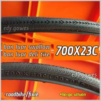 ban luar sepeda 700x23c ban luar deli tire swallow 700 x 23c