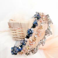 Feodora Headband/bando kristal/bando mutiara