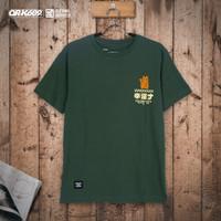 OR-K689 Baju Kaos Pria Lucky Distro Green