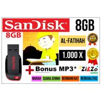 USB 8GB Isi Bonus MP3 suara Merdu Mengaji Al - Fatihah 1.000 X - 3 Jam
