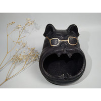 Stone Cute Bulldog Ash Tray - Asbak Batu Unik Bulldog