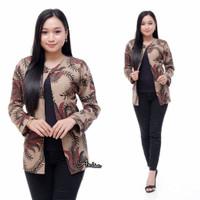 Baju Batik Atasan Wanita / Blouse Balero Batik Kombinasi - 9, All Size