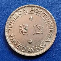 Koin Kuno 50 Avos Macau Portugis