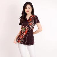 Baju Batik / Blouse Batik Wanita / Chany Top / bahan Katun
