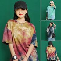 Baju Atasan Wanita Oversize Jordie Kaos Tie Dye Wanita Jumbo