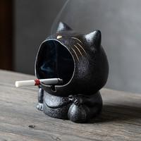 Stone Cute Standing Cat Ash Tray - Asbak Unik Model Kucing Berdiri