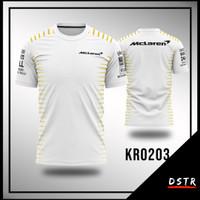 Kaos Baju Jersey F1 Formula One Team McLaren Full Print Size XS-6XL
