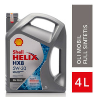 Oli Mesin Mobil oil Shell Helix HX8 5W-30 4Liter asli 1pc