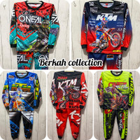 BISA COD/ setelan baju balap anak/ stelan jersey motorcross terbaru