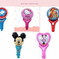 balon foil karakter pentung anak - balon tongkat disney hero