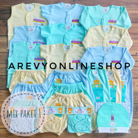 Paket Baju Bayi Newborn Libby & Miyo 0-6M Polos isi 31 Pcs Piyama Baby