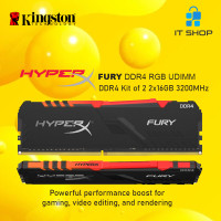 Kingston HyperX Furry DDR4 RGB 32GB (16GB x 2) 3200Mhz
