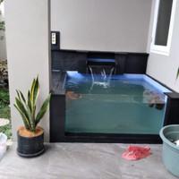 Jasa pembuatan kolam ikan minimalis/pembuatan kolam ikan koi