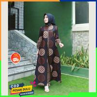 Baju Gamis Batik Wanita Busui Dress Muslim Pesta Syari Modern Terbaru