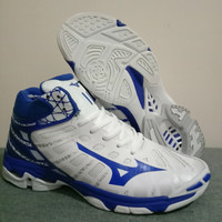 Sepatu Volly Mizuno Voltage White Blue